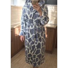 """1 Халат женский пушистый """"Жираф"""""""