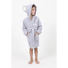 """Детский махровый халат Nusa """"Коала"""" серого цвета"""