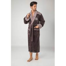 Мужской бамбуковый халат  Nusa №1225 бежевый