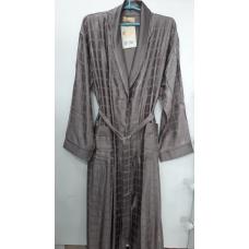 Мужской шелковый халат Nusa № 12505 бежевый
