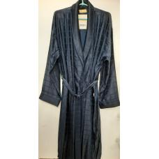 Мужской шелковый халат Nusa № 12505 синий