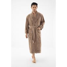 Мужской бамбуковый халат Nusa №1245 бежевый