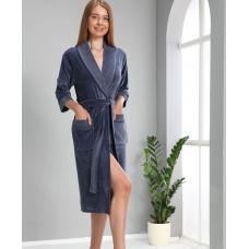 Женский велюровый халат Nusa № 0385