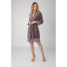 Женский велюровый халат Nusa № 0431 фрезовый