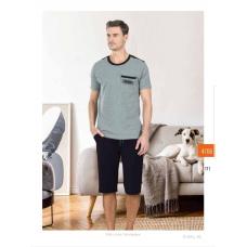 Пижама мужская с шортами Jiber № 4706 серый