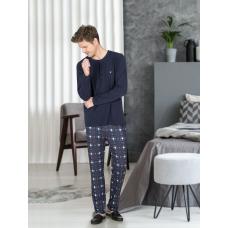 Пижама мужская с брюками Jiber № 4663 Синий