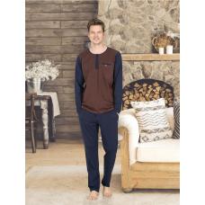 Пижама мужская с брюками Jiber № 4669 Коричневый