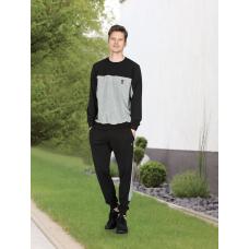 Пижама мужская с брюками Jiber № 4674 Черный