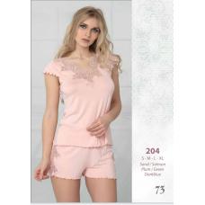 Пижама женская трикотажная с шортами Reina № 204