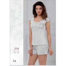 Пижама женская трикотажная с шортами Reina № 216