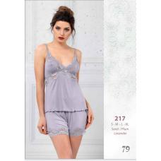 Пижама женская трикотажная с шортами Reina № 217