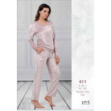 Пижама женская велюровая Reina № 411