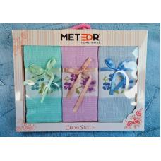 """Набор кухонных вафельных полотенец Meteor """"Цветок 1"""""""