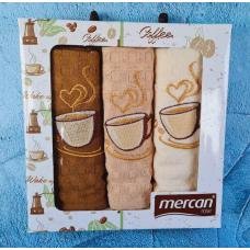 """Набор кухонных вафельных полотенец Mercan """"Кофе"""""""