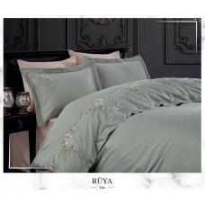 Постельное белье Dantela Vita сатин с вышивкой - Ruya Gri