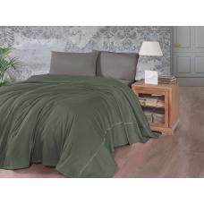 Летнее постельное белье с вафельным покрывалом First Choice SP - 11 Dark Green
