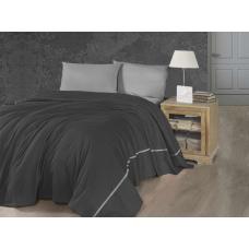 Летнее постельное белье с вафельным покрывалом First Choice SP - 41 Anthracite