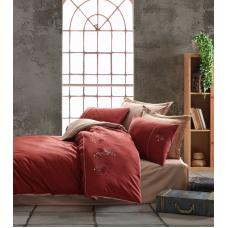 Постельное белье Saheser сатин с вышивкой Lotus Red