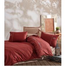 Постельное белье Saheser сатин с вышивкой Mina Red