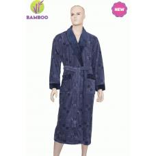 Халат мужской облегченный бамбуковый Nusa №17690-1