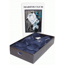 "Набор халат мужской с тапочками Maison D`or -""Marine Club"""