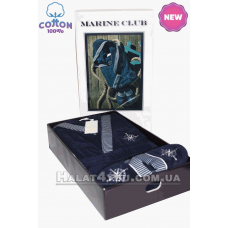"1 Халат мужской с тапочками Maison D`or -""Marine Club"""