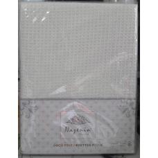 1 Покрывало вафельное с кисточками Nazenin (кремовое)