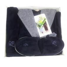 Набор халат мужской бамбуковый + полотенца фирмы Nusa № 2750