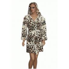 Короткий пушистый леопард