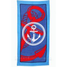 """Пляжное полотенце """"Anchor-2 """"- 75*150"""