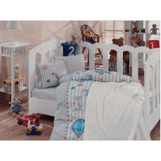 Детское постельное белье с вязаным пледом - Gezgin