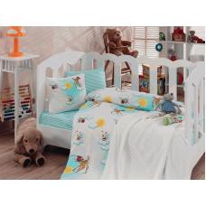 Детское постельное белье с вязаным пледом - Bambis