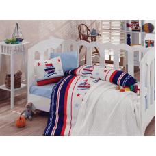 Детское постельное белье с вязаным пледом - Deniza