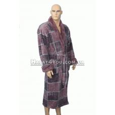 Мужской пушистый цветной халат Massimo Monelli