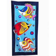 """Пляжное полотенце """"Рыбки""""- 75*150"""