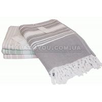 """1Махровое полотенце  Maison D`or -""""Peshtemal""""серый"""