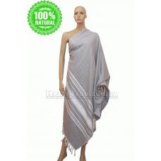 """Махровое полотенце - сауна  Maison D`or -""""Peshtemal""""серый"""