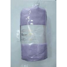 Махровая простынь на резинке с наволочками  Maison D`or -Сирень