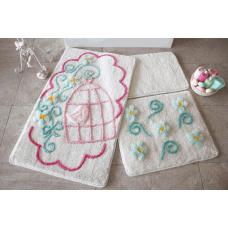 """Набор ковриков для ванной и туалета """"Alessia""""№21"""