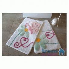 """Набор ковриков для ванной и туалета """"Alessia""""№13"""