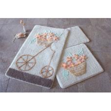 """Набор ковриков для ванной и туалета """"Alessia""""№23"""