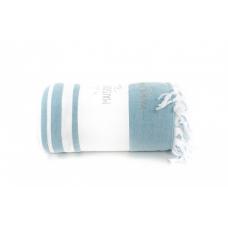 Махровая простынь - покрывало Maison D`or Babetta - бирюзовый