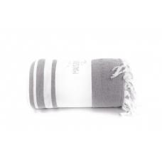 Махровая простынь - покрывало Maison D`or Babetta - серый