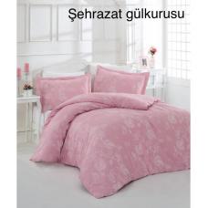 Семейный комплект постельного белья Altinbasak-Sehrazat gulkurus