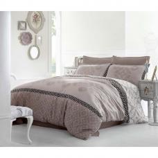 Семейный комплект постельного белья Altinbasak-Alona Kahve