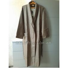 Мужской вафельный халат Nusa №12680 бежевый