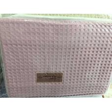 "Покрывало вафельное Maison D`or ""Star""220х240 см розовое"