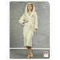 Длинный женский махровый халат с капюшоном (25)